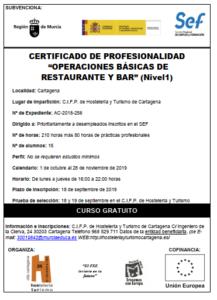 Caratula restaurante nivel1. 2019-20
